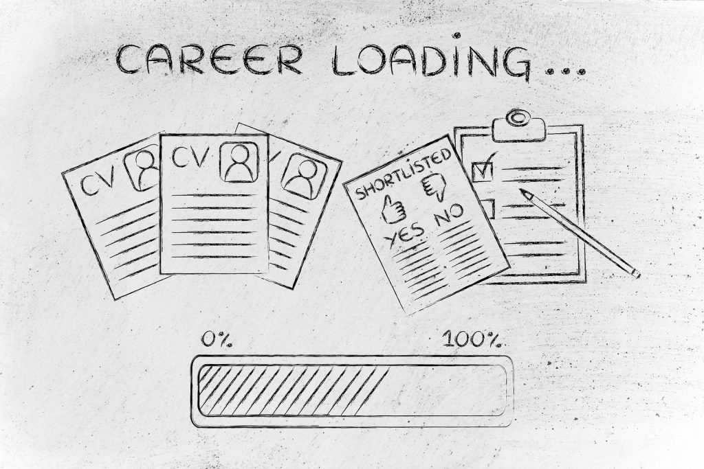 Career Stalling - Loading Bar: Cv And Shortlist Of Candidates