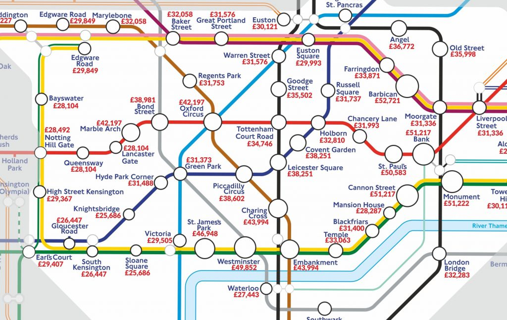 Tube Stop Salaries - Which Stations Have The Highest Paying Jobs? - Blog