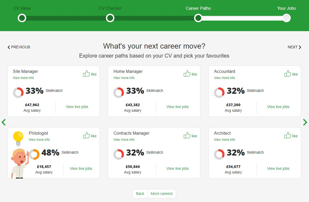 Identify your transferable skills with ValueMyCV